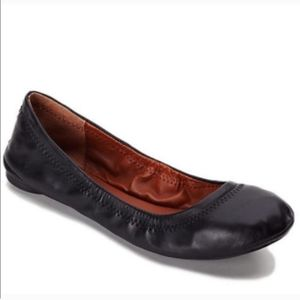 Lucky Brand Emmie Black Leather Flats
